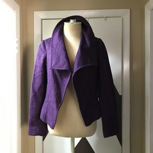 Stunning anthracite purple tailored, lined jacket.